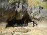 Пещера, в которую мы добрались в отлив, слева от Пра Нанг (если смотреть со стороны моря)