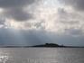 Вид с Кий-острова на остров Крестовый. Около 9 утра