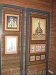 В этой витрине были различные проекты Храма Святого Духа.