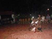 """В один из вечеров устроили демонстрацию индийских боевых искусств """"калариппаятту"""", которым свыше 5000 лет."""