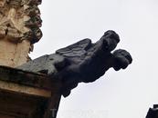 Горгульи, живущие на готических собор и обычно выполняющие роль страшилок одновременно с ролью водоотводов - моя архитектурная слабость. Вот такая двухголовая ...