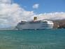 Аргостоли. Порт. Огромный лайнер Costa Classica.