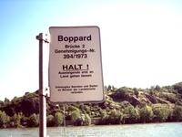 При входе на причал написано, что мы в Боппарде
