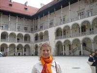 во дворе королевского дворца Вавеля