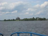 Вид острова Кижи с озера