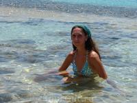 водные процедуры на острове, кристально чистая вода