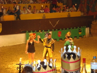 Этот вечер был самым потрясным =) Нас кормили и поили как королей =) Танцы были красочными а турнир захватывающим =) На входе в замок нам каждому выдали ...