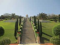 Хайфа. Нижняя часть Бахайских садов.