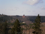 Вид на Турайдский замок со стороны старого замка Сигулды