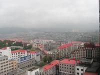 Китай, Суйфеньхэ. Вид из номера. Очень уныло...