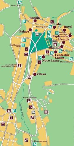 Карта Марианских Лазней