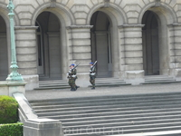 Брюссель.  Караул у входа  в Королевский  Дворец.