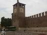 Замок Кастельвеккьо-замок Скалигеров. Часовая башня.