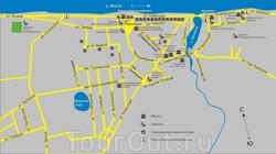 Карта Плеса с улицами