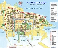 Карта Кронштадта с улицами