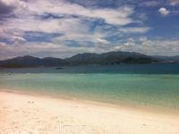 Пляж на острове Vinperl