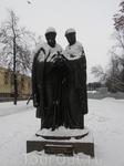 Памятник Петру и Февронии Муромским на Первомайском бульваре