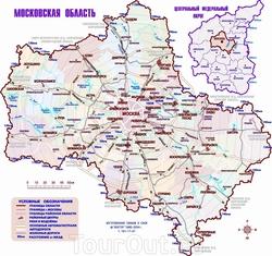 Карта Московской области с населенными пунктами