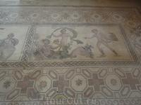 Одна из напольных античных мозаик на вилле Диониса в Пафосе