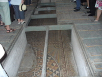 Вифлеем. Храм Рождества Христова.На полу Храма Рождества Христова местами осталась мозаика со времен византийского императора Константина.