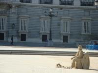 """Мадрид. Живая """"скульптура""""."""