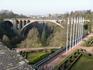 Мост Адольфа-длина 308 м самый длинный одноарочный мост Европы,построен в 1896г,назван именем того,кто дал деньги на стрительство.