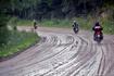 Мы двигались на трёх автомобилях, а перед нами финские парни мчались на трёх мотоциклах... Нам было гораздо комфортнее :) Асфальтная дорога закончилась ...