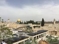 Вид на мечеть аль-Акса в Иерусалиме и Соломоновы Конюшни