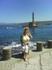 на фоне  венецианского  маяка