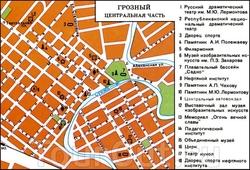 Карта центра Грозного