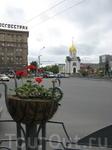 Новосибирск. Вид на часовню св. Николая Чудотворца в центре города