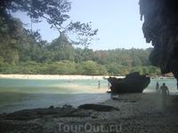 Вид на Пра Нанг и косу к пляжу