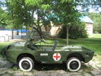 В парке. Выставка военной техники