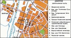 Карта центра Дмитрова