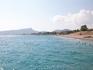 Вид с платформы пляжа на Кемер