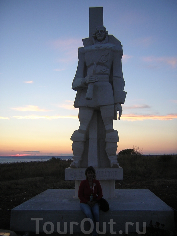 Болгары почитают Феодора Ушакова. Памятник на Калиакре.
