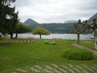 Comptoir du Lac на озере около Анси