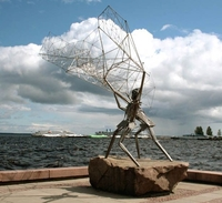 Скульптура Рыбаки