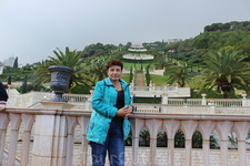 Хайфа. Бахайские сады. Вид с нижней террасы.