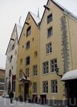 """Здание """"Три сестры"""" (14 век). Оно было самым высоким строением до конца 1800-х годов."""