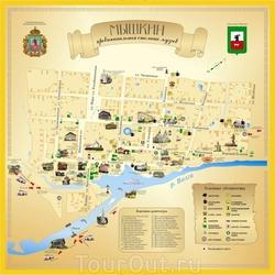 Карта Мышкина для туристов