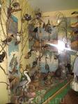 И в последней комнате был местный животный мир. Общий вид одной из стен