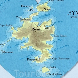 Карта острова Сими