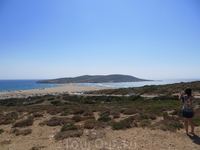 """""""Поцелуй двух морей"""" - пляж Прасониси, слева Средиземное море. справа - Эгейское"""
