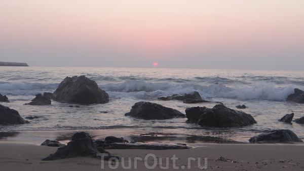 море в час заката....