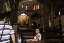 Назарет. Храм Благовещения. Интерьер верхней церкви.