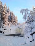 Равнинный водопад Кивач