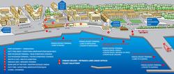 Карта порта Керкиры