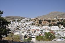 Вид на город Линдос