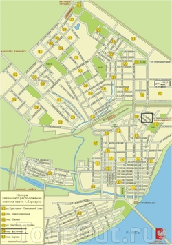 Карта Барнаула с улицами